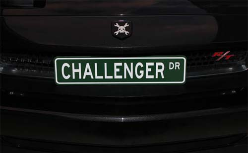 West Coast Challengers gift to club members, custom made Challenger street sign