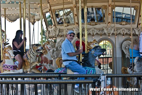 Club member Bill on his mighty carousel steed