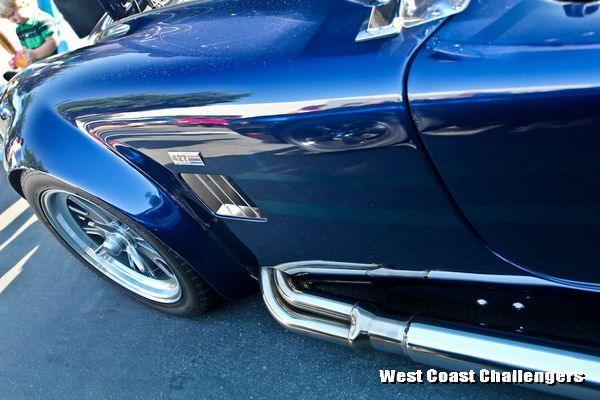 West Coast Challengers car club at Cars and Coffee weekly meet and greet event in Irvine, CA