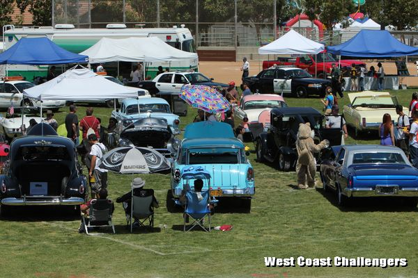 Cars on display at the City of Diamond Bar Birthday Car Show