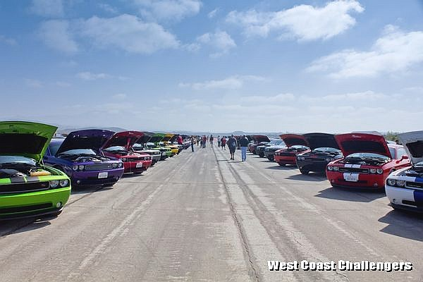 West Coast Challengers car club at Spring Fest 8