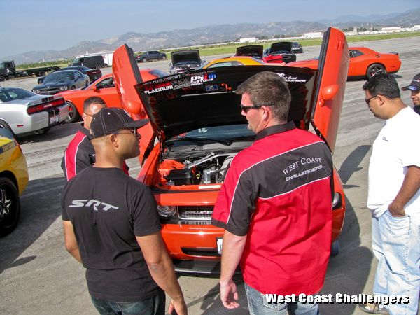 West Coast Challengers car club members with Ralph Gilles